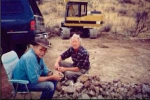 Gene Mueller and thom at Rancho Agua Nueva in 199? theagatetrader thom lane agate jasper theagatestore