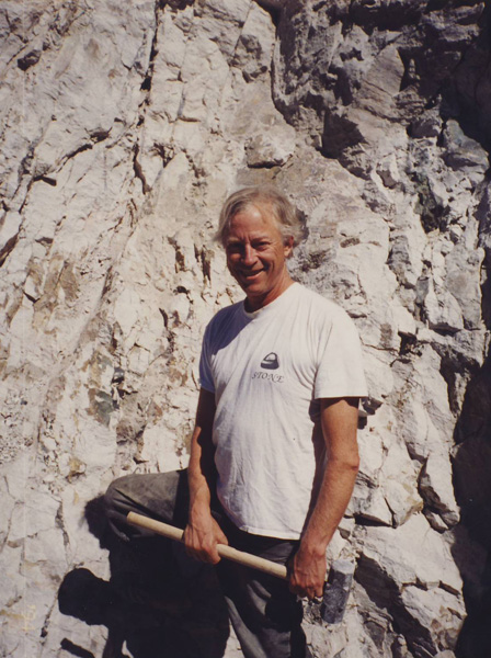 Thom Lane at the lower cliff dig