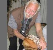 Thom Lane holding a 48 lb Bruneau
