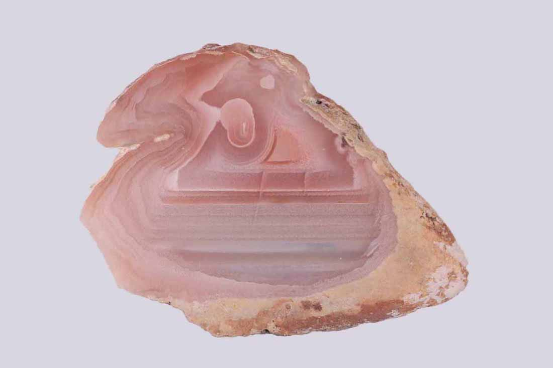 pink agate from the collection of Grant Curtis