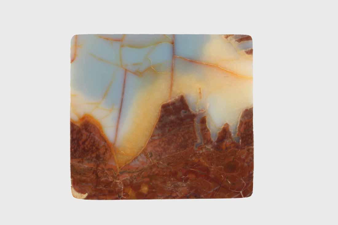 a rectangular opal gem from Gemfield, Nevada